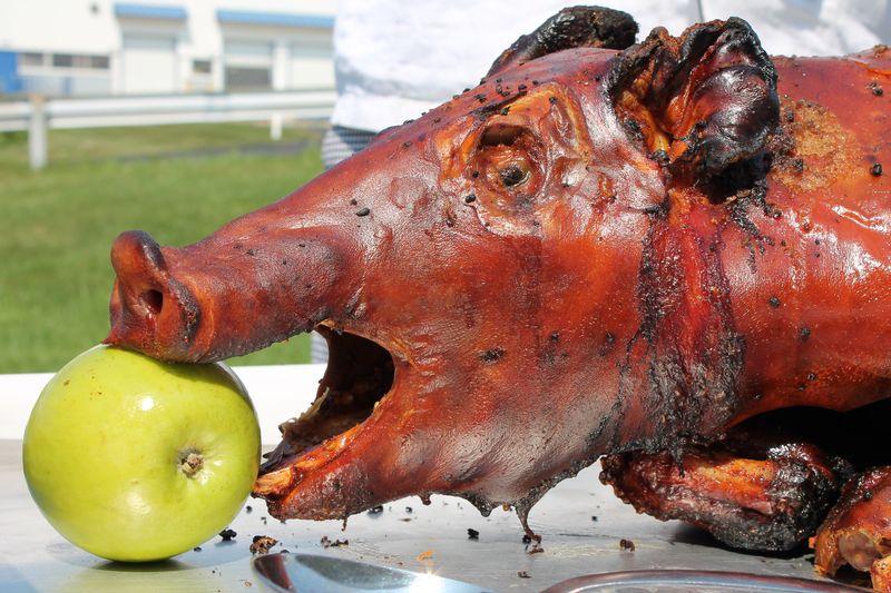 Pig-roasting